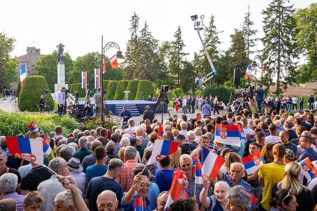 Official visit of the french president in the serbian republic